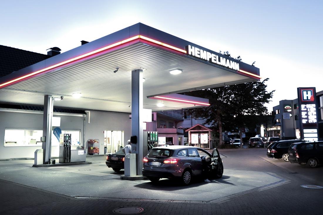 Hempelmann Tankstelle Bünde Aussenansicht