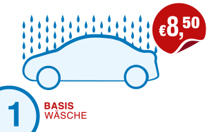 Icon Preis PKW-Basis-Wäsche Hempelmann Tankstellen Kirchlengern