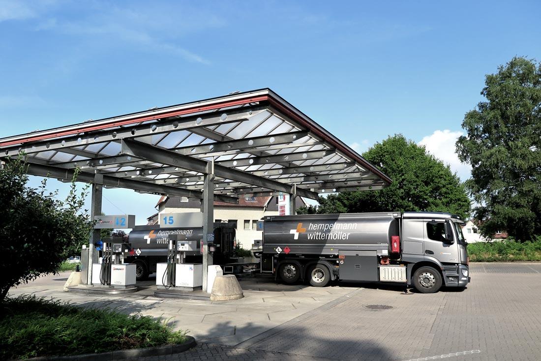 Hempelmann Tankstelle Hiddenhausen LKW-Tankstelle