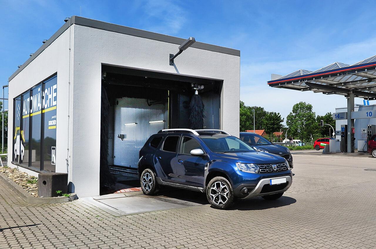 Hempelmann Tankstelle Kirchlengern Autowäsche Ausfahrt